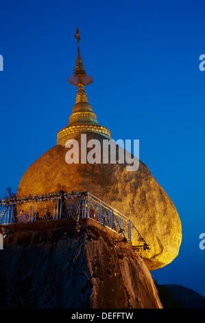 Kyaiktiyo Golden Rock, Mon State, Myanmar (Burma), Asia - Stock Photo