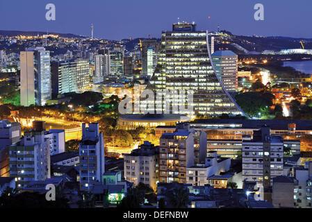 Brazil, Rio Grande do Sul, Porto Alegre, night, nocturnal view, travel, tourism, Brazil 2014, World Championship - Stock Photo