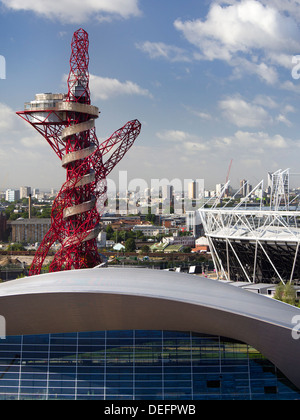 The Olympic Park in  Stratford, London under redevelopment in September, 2013 10 - Stock Photo