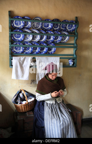 The Old Town open air museum DEN GAMLE BY, Arhus, Jutland, Denmark, Scandinavia, Europe - Stock Photo