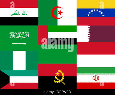National flags of the OPEC countries