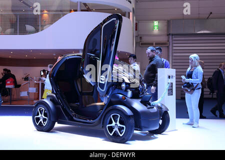 Frankfurt, Germany. 17th Sep, 2013. International Motor Show in Frankfurt, Germany. Renault Twizy Electric Car at - Stock Photo