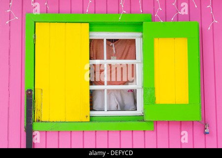 Beach Store in Cruz Bay, St. John, United States Virgin Islands, West Indies, Caribbean, Central America - Stock Photo