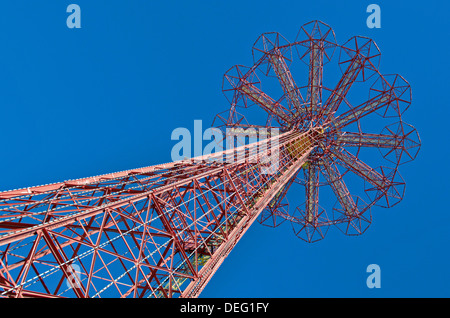 The Parachute Jump in Coney Island known as the Eiffel Tower of Brooklyn - Stock Photo