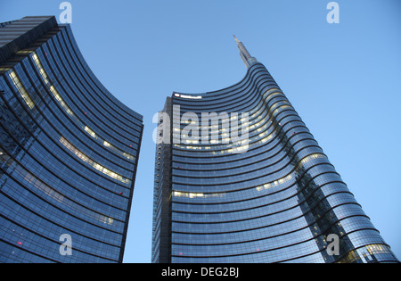 Modern building, Gae Aulenti Square, Milan, Lombardy, Italy, Europe - Stock Photo