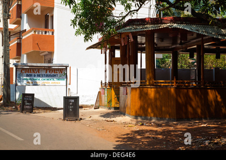 China Town Bar and Restaurant, Vagator Beach Road, Vagator, Bardez, North Goa, Goa, India - Stock Photo