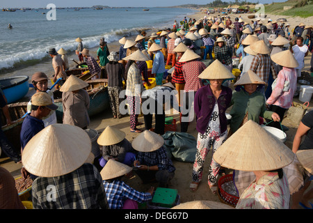 Fishing village, Mui Ne, Vietnam, Indochina, Southeast Asia, Asia - Stock Photo