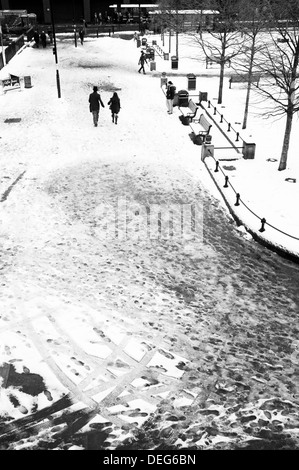The Old Eldon Square Area of Newcastle upon Tyne in the Snow WInter 2012/13 - Stock Photo