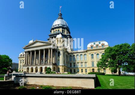 Illinois State Capitol Building Springfield Illinois - Stock Photo