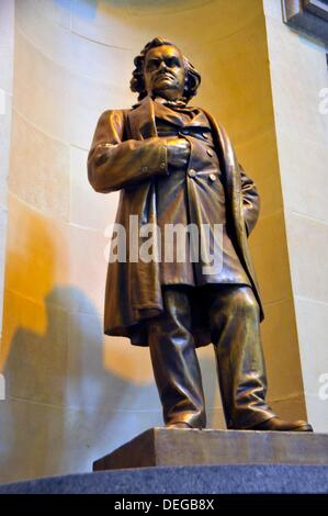 Statue of Stephen Douglas inside State Capitol Building Springfield Illinois - Stock Photo
