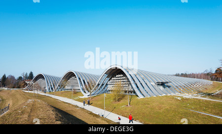 Zentrum Paul Klee, modern art museum, designed by Renzo Piano, Bern, Switzerland, Europe - Stock Photo