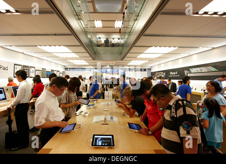 Apple store, Ginza, Shopping area, Tokyo, Japan - Stock Photo