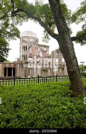 Atomic Bomb Dome, Peace Memorial Park, Hiroshima, Japan. - Stock Photo
