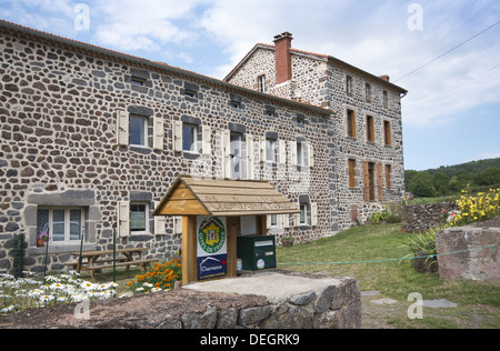 A gite in the picturesque village of Le Chier on the GR65 route, The way of St James, France - Stock Photo