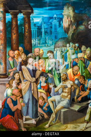16th century  -  Jesus Raising Lazarus, 16 century - French Anonyme Philippe Sauvan-Magnet / Active Museum oil on - Stock Photo