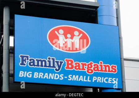 Family Bargains store - Stock Photo