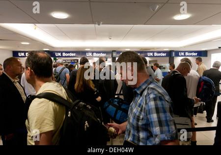 UK border London City Airport England - Stock Photo