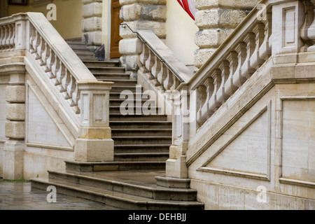 The Ambassadors stairs in the Swiss courtyard of the  Hofburg Palace Vienna Austria Botschafter Stiege - Stock Photo