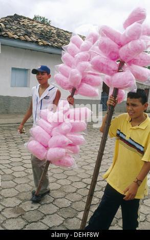 Sugar sellers. Valle de Ángeles. Honduras. - Stock Photo