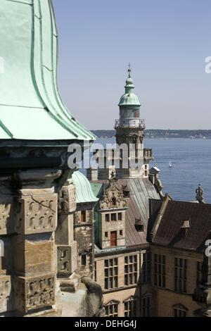 Kronborg castle. Helsingør. Denmark - Stock Photo