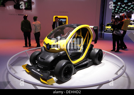 International Motor Show in Frankfurt, Germany. Renault Twizy Electric Racing Car at the 65th IAA in Frankfurt, - Stock Photo