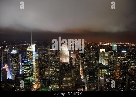General view of  Southwest Manhattan. New York, New York. USA. - Stock Photo