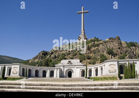 Valle de los Caidos. San Lorenzo del Escorial. Sierra de Guadarrama. Madrid. Spain. - Stock Photo