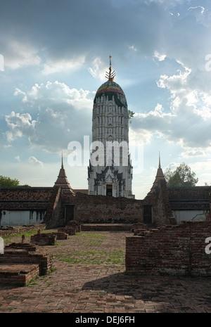 Wat Phutthai Sawan, Ayutthaya Thailand - Stock Photo