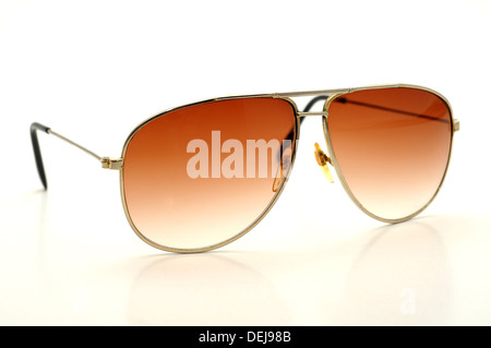 old fashioned sun glasses isolated on a white background - Stock Photo
