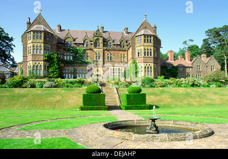 Knightshayes Court. Victorian country house near Tiverton, Devon, England. Home of the Heathcoat-Amory family now - Stock Photo