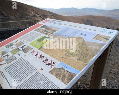 Mirador Risco de Las Penas Betancuria Fuerteventura Canary Islands Spain parque rural - Stock Photo