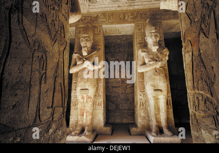 Great Temple of Ramses II, Abu Simbel. Egypt - Stock Photo
