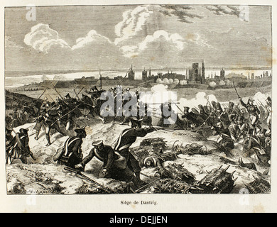 Germany-France-Poland-History-XIC - The Siege of Danzig 19 March - 24 May 1807 was the French encirclement and capture - Stock Photo