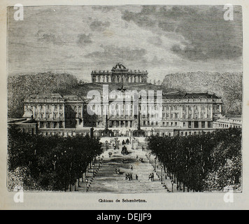 Austria-History-XIXc - Schönbrunn Palace is a former imperial summer residence in Vienna, Austria  One of the most - Stock Photo