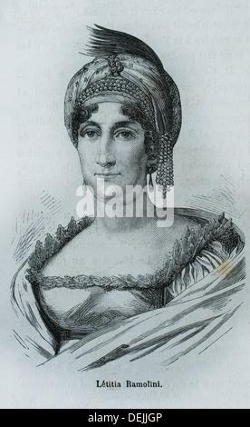 France, History, XIXc - Nobile Maria Letizia Buonaparte née Ramolino1 Marie-Lætitia Ramolino, Madame Mère de l´Empereur - Stock Photo