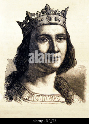 France, History- Louis IX 25 April 1214 - 25 August 1270, commonly Saint Louis, was King of France from 1226 until - Stock Photo