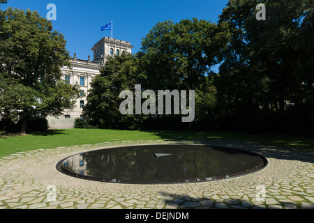 BERLIN - SEPTEMBER 07: The Memorial to the Murdered Sinti and Roma in Nazi Europe, on September 7, 2013 in Berlin, - Stock Photo