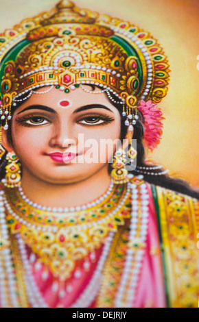 Parvati on a hindu poster - Stock Photo