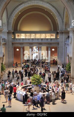 The Great Hall of Metropolitan Museum of Art  Manhattan  New York City  USA. - Stock Photo