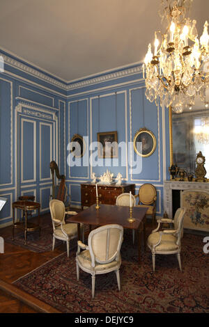 Blue Hall in Louis XVI style in the Carnavalet Museum in Le Marais, Paris. France - Stock Photo