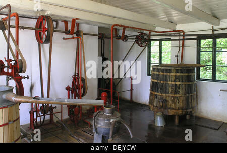 Old diary. Hjerl Hede open air museum, Sevel, jutland, Denmark - Stock Photo