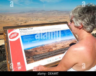 Parque Rural Fuerteventura Canary Islands Spain looking North - Stock Photo