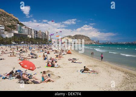 ´Playa del Postiguet´ , Alicante , Spain. - Stock Photo