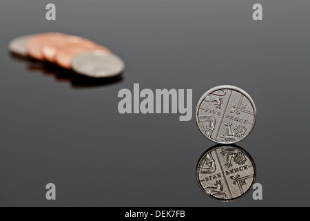 A Shiny Five Pence Coin - UK Penny