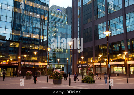 The courtyard outside the entrance to Snowhill train station where a number of large businesses are based. - Stock Photo