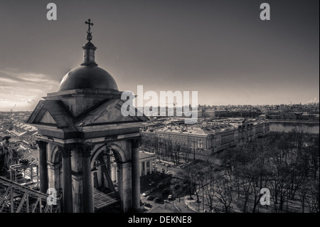 A view of St. Petersburg from Saint Isaac's Cathedral in the city - Stock Photo