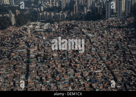 Paraisopolis,slum , the largets in sao Paulo, Sao Paulo, Brazil, on Thursday , August 29th, 2013. - Stock Photo