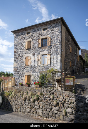 Gite hostel in St-Privat-d'Allier on the GR65 route, The way of St James, France - Stock Photo