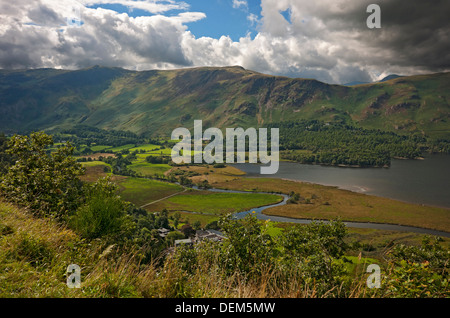 Looking view across Borrowdale towards Maiden Moor from Surprise View in summer Keswick Cumbria England UK United Kingdom Britain Lake District
