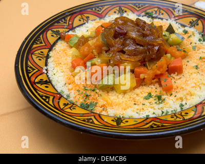 Moroccan food - couscous - Stock Photo